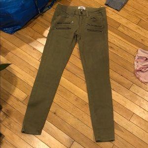 PAIGE Moto zipper jeans pants bottoms denim